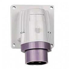 Socle de connecteur P17 - IP44 - 16 A - 20/25 V~ - 2P - plast