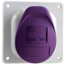Socle de tableau à entraxe unifié P17 - IP44 - 32 A - 20/25 V~ - 2P - plast