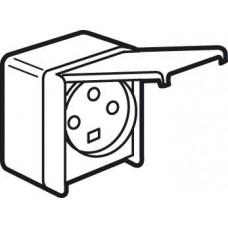 Socle saillie étanche Plexo 32 A - 3P+T - IP44-IK08 - à volet - 96x119 - gris