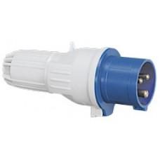 Fiche droite P17 - IP44 - 16 A - 200/250 V~ - 2P+T - plast