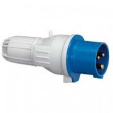Fiche droite P17 - IP44 - 32 A - 200/250 V~ - 2P+T - plast