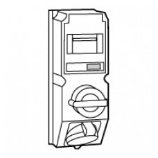 Coffret monoprise Hypra - IP44 - 32 A - 380/415 V~ - 3P+T - interrupteur + disjoncteur différentiel