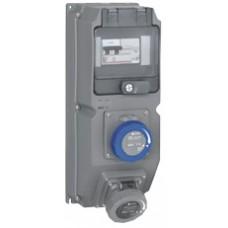 Coffret multiprises Hypra - IIP66/67-55 - 2 prises 200/250 V~ - disjoncteur différentiel