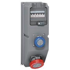 Coffret multiprises Hypra - IP66/67-55 - 2 prises (1 prise  32 A 3P+N+T) - disjonteur