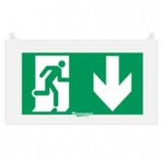 Plaque signalisation réglementaire Arcor - picto sortie en dessous