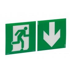 Etiquettes signalisation universelle et recyclable (2) - picto + flèche