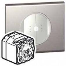Interrupteur double émetteur-récepteur CPL/IR Céliane - In One - témoin - 2 x 1000 W