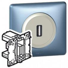 Prise USB femelle Prog. Céliane - cablage bornier à vis section 1mm