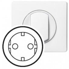 Enjoliveur Céliane - prise 2P+T standard Germanique - blanc