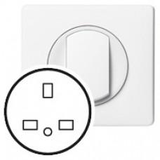 Enjoliveur Céliane - prise 2P+T standard BS - blanc