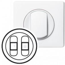 Enjoliveur Céliane - prise HP double - blanc