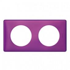 Plaque Céliane - Métal - 2 postes - Violet Irisé