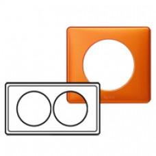 Plaque Céliane - Métal - 2 postes pour rénovation - Orange Snake