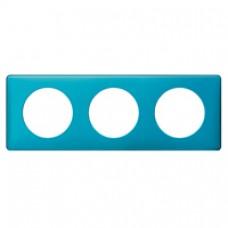 Plaque Céliane - Métal - 3 postes - Blue Snake