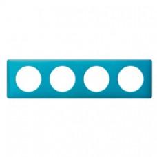 Plaque Céliane - Métal - 4 postes - Blue Snake