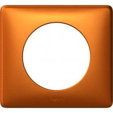 Plaque Céliane - anodisé - 1 poste - cuivre