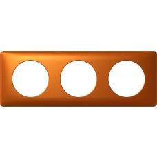 Plaque Céliane - anodisé - 3 postes - cuivre