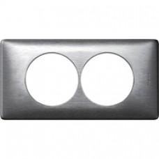 Plaque Céliane Métal 2 postes pour rénovation Aluminium