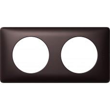 Plaque Céliane - anodisé - 2 postes - graphite