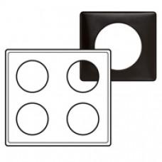 Plaque Céliane - Métal - 2 x 2 postes - Carbone