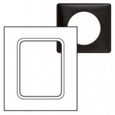 Plaque Céliane - Métal - pour écrans tactiles 3,5'' - Carbone