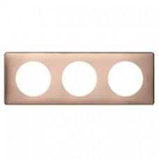 Plaque Céliane - Métal - 3 postes - Copper
