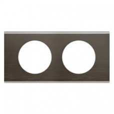 Plaque Céliane - Matières - 2 postes - Black Nickel