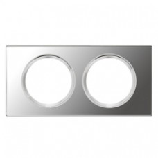 Plaque Céliane - Exclusives - 2 postes - Verre Miroir
