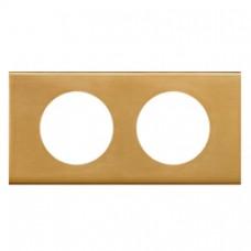 Plaque Céliane - Matières - 2 postes - Bronze Doré