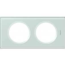 Plaque Céliane - 2 postes - verre kaolin
