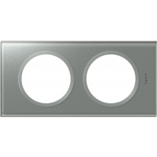 Plaque Céliane - 2 postes - verre titane