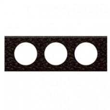 Plaque Céliane - Matières - 3 postes - Cuir Pixel