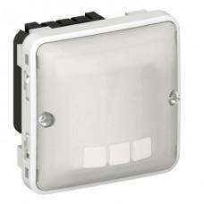 Interrupteur automatique Prog Plexo composable gris/blanc - avec neutre - 3 fils