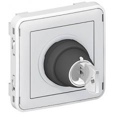 Interrupteur à clé -3A - 250 V Ronis n° 455 Prog Plexo composable gris - 2 positions