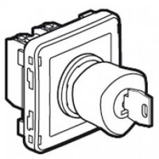 Poussoir déverrouillage à clé Prog Plexo composable gris/jaune
