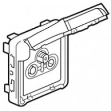 Prise TV-R-SAT Prog Plexo composable gris/blanc - avec démodulateur individuel
