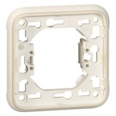 Support plaque - pour encastré Prog Plexo composable blanc - 1 poste