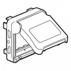 Adapateur Prog Plexo composable pour fonction Mosaic - volet fumé - blanc Artic