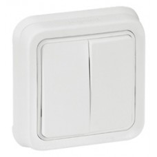 Support plaque Prog Plexo composable blanc Artic - 1 poste