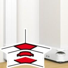 Angle intérieur 80 à 100° - pour goulotte à clippage direct Mosaic 50x130
