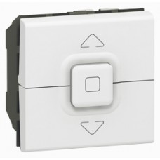Interrupteur pour volets roulants Mosaic - 2 modules - blanc
