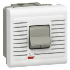 Disjoncteur Mosaic - magnéto thermique 1P+N - 230 V - 10 A - 2 modules - blanc