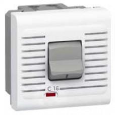 Disjoncteur Mosaic - magnéto thermique 1P+N - 230 V - 16 A - 2 modules - blanc
