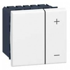 Interrupteur variateur Mosaic - 2 modules - 0-10 V - blanc