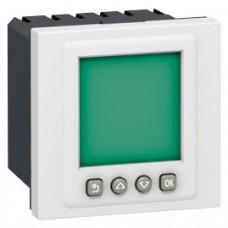 Interrupteur horaire programmable Mosaic - 2 modules - blanc