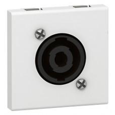 Prise audio Mosaic - Speakon 4 contacts - 2 modules - blanc