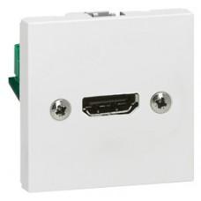 Prise audio vidéo Mosaic - HDMI - 2 modules - blanc