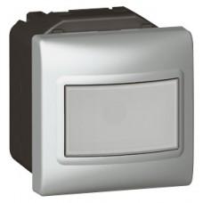 Interrupteur auto Mosaic - 2 modules - avec neutre - 3 fils - 1000 W - aluminium