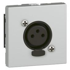 Prise audio Mosaic - XLR 3 pôles femelle Neutrik - 2 modules - aluminium