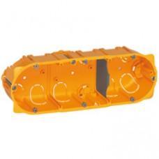 Boîte multiposte Batibox - cloison sèche - 3 postes - 6/8 modules - prof. 40